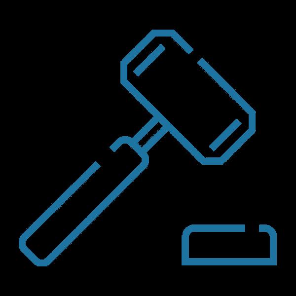 Grafik eines Richterhammers